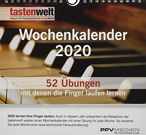 Tastenwelt Wochenkalender 2020: Fitness für die Finger