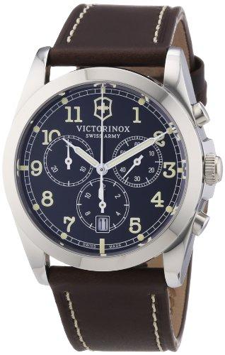 Victorinox Swiss Army 241567 - Reloj cronógrafo de Cuarzo para Hombre con Correa de Piel, Color marrón