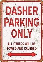 ダッシャー駐車場のみブリキ看板壁の装飾金属ポスターレトロプラーク警告看板オフィスカフェクラブバーの工芸品