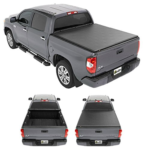 Bestop 19182-01 EZ-Roll Tonneau Cover for 2007-2018 Toyota Tundra (w/ and w/o deck rails), 5.5'...