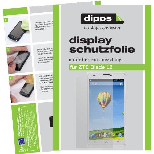 dipos Protector de pantalla compatible con ZTE Blade L2 (2 unidades) - mate pelicula protectora de pantalla