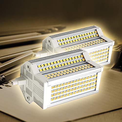 Bombillas LED R7S, paquete de 2, 118 mm, 50 W, regulable, doble, doble extremo, 200 grados, J118, equivalente a 500 W, lámpara halógena tradicional de repuesto y seguridad