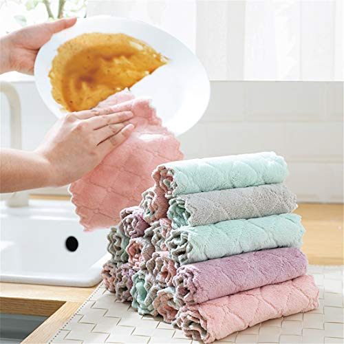 15pc Super Absorbent Microfiber Kitchen Dish Cloth High-Efficiency Tableware Household Cleaning Towel Kitchen Tools Gadgets
