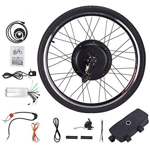 Z ZELUS 26\'\' Kit di Conversione Bici Elettrica Controllo Mozzo Motore Hub E-Bike Ruota Bicicletta Regolatore di velocità (Ruota Posteriore 48V 1000W)