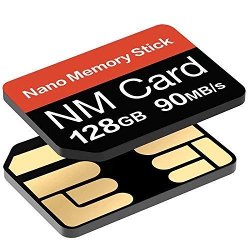 YAOMAISI NM-Karte 128GB 90MB/S Nano-Speicherkarte Nano SD-Karte Compact Flash-Karte, nur für Huawei P30P30pro und Mate20 Series/Mate30 Series/Mate40/Mate40pro Geeignet, 128GB NM Card