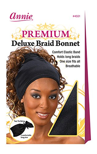 Annie Deluxe Braid Bonnet, Black by Annie