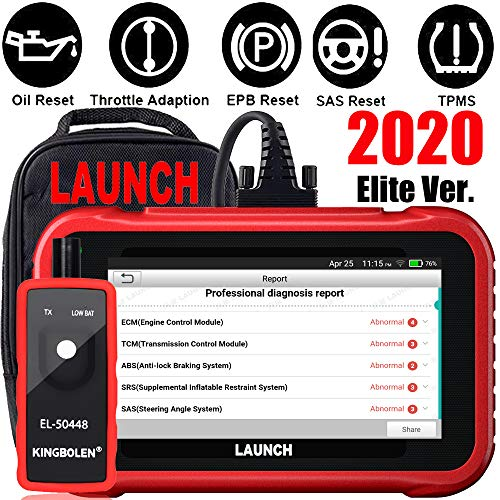 LAUNCH OBD2 Scanner CRP129E Code Reader for Engine/ABS/SRS/TCM Scan Tool,Oil lamp/EPB/SAS/TPMS/Throttle Body Reset,Auto VIN,Diagnostic Report,Free Update + TPMS Tool EL-50448-2020 Elite Ver.