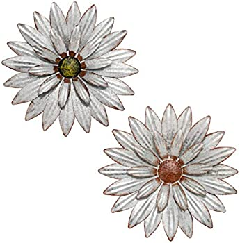YEAHOME 13 Inch Metal Flower Wall Decor