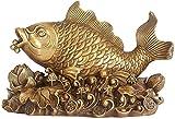 Mxchen Chino Feng statui Estatua Bronce Feng Shui Riqueza Dorado dragón Peces Estatua Afortunado Peces Estatua...