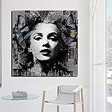 KWzEQ Película Lienzo Sala de Estar decoración del hogar Moderno Arte de la Pared Pintura al óleo Imagen del Cartel,Pintura sin Marco,40x40cm