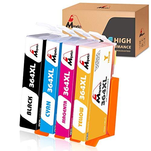 Pack de 4, Noir Cyan Magenta Jaune Photosmart 5510 5511 5512 5514 5515 5520 5524 6510 6520 6515 7510 7520 7515 B8550 GPC Image Cartouches dencre Compatible pour HP 364XL pour Deskjet 3070A