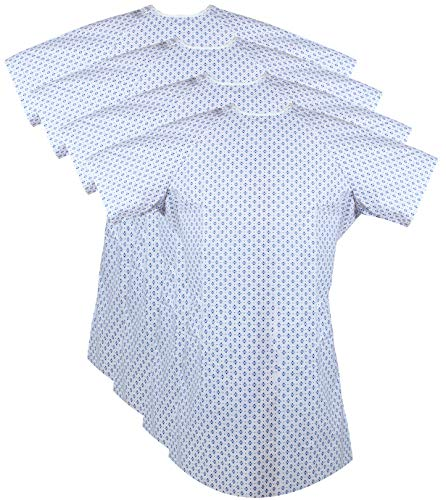 Zoyer Patient Gowns (4 Pack) with Back Tie-Hospital Gowns for Men and Women-Fits Up to 2XL - 46