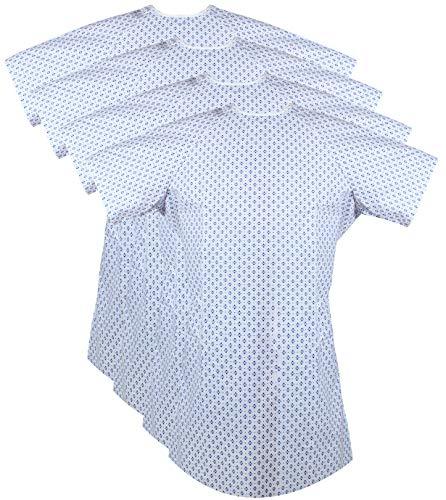 Zoyer Batas de paciente (paquete de 4) con corbata en la espalda para hombres y mujeres, se adapta a hasta 2XL – 46 pulgadas de largo...
