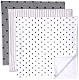 Amazon Essentials - Pack de 3 mantas para bebé, talla única, Neutral Uni Star...