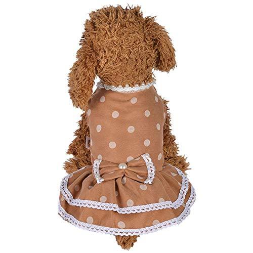 WPCASE Vestitini Cani Piccoli Femmina Vestito da Cane Estate Vestitini per Cani Taglia Piccola Abito da Sposa Dolce Cucciolo Vestito da Cane per L'Estate Yellow,M