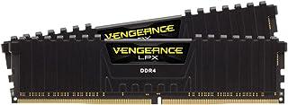 Kit de Memoria Vengeance DDR4 DIMM de Alto Rendimiento de 64 GB (2 x 32 GB) DDR4 3000 MHz CL15 para CPU Intel CoreTM i5 i7 y i9 de décima generación, Color Negro