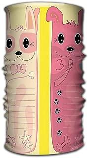 Xunulyn Comfy Face Bandana Mask Breathable Headwrap cat Dog Bookmark eps Lifelike