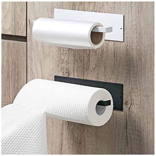 fine_fine Toilet Paper Holder, Wall Mounted & No Drilling Paper Storage Rack Tissue Roll Hanger Bathroom Paper Towel Dispenser Office Toilet Paper Holder (Black)