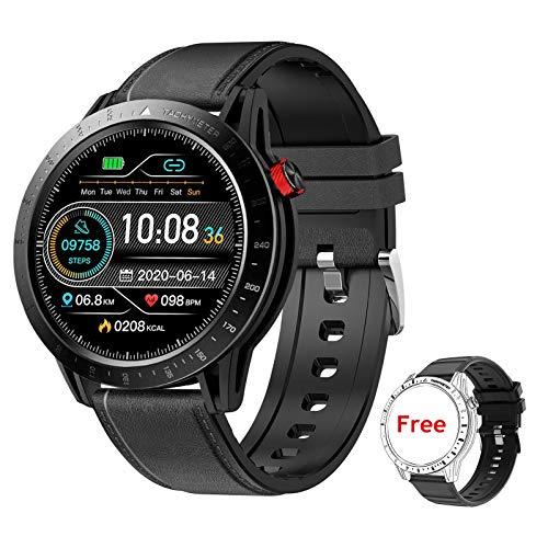 Voigoo Smart Watch für Herren, (2021 neu,48mm) Touch Farbdisplay Fitness Armbanduhr mit Pulsuhr,Blutdruckmessung, 3ATM wasserdichte Sportuhr mit Schrittzähler, Stoppuhr für iOS Android