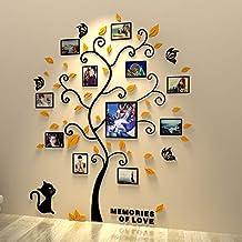 Unitendo 3D Acrylic Black Tree Wall Stickers Photo Frames Family Tree Wall Decal Easy to Install &Apply DIY Photo Gallery ...