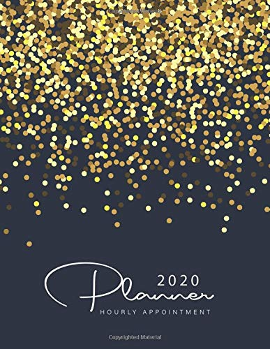 2020 Hourly Appointment Planner: Black Gold Dots   2020 Weekly Appointment Book for Salons, Spas, Hair Stylist, Nail   365 Days with Times Daily and ... Appointment Book 2020 Daily and Hourly)