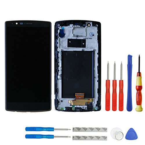 swark LCD Display für LG G4 H810 H811 H815 VS986 Schwarz Touchscreen Bildschirm Digitizer Assembly Glas + Rahmen+Tools