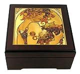 Caja de música para joyas / joyero musical de madera con reproducción de un cuadro famoso - Gymnopédie n°1...