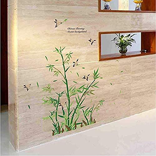 Bbnnn Neue Kleine Bambussprossen BaumWandaufkleberChina Stil Pflanzen Tapete Home Wohnzimmer Salon Restaurant Decor Removal Decals