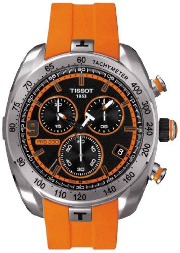 Tissot T048.427.27.052.00 - Orologio da polso da uomo, cinturino in silicone colore arancione
