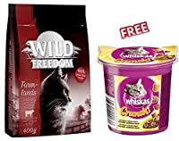 Wild Freedom 2kg is a premium, complete dry cat food inspired by your cat's natural instincts. It provides your cat with a delicious, species-appropriate nutrition and is suitable for adult cats of all breeds. Nutritious dry food for adult cats, made...