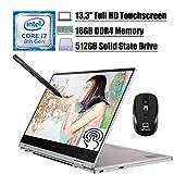 Samsung Notebook 9 Pro 2-in-1 2020 Premium Laptop, 13.3' Full HD Touchscreen, 8th Gen Intel Quad-Core i7-8565U, 16GB DDR4 512GB SSD, Thunderbolt Backlit KB Fingerprint Win 10 + ePark Wireless Mouse