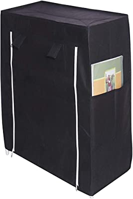 6-Layer Shoe Rack Stand Shoe Protected from Weather & Dust(Black)