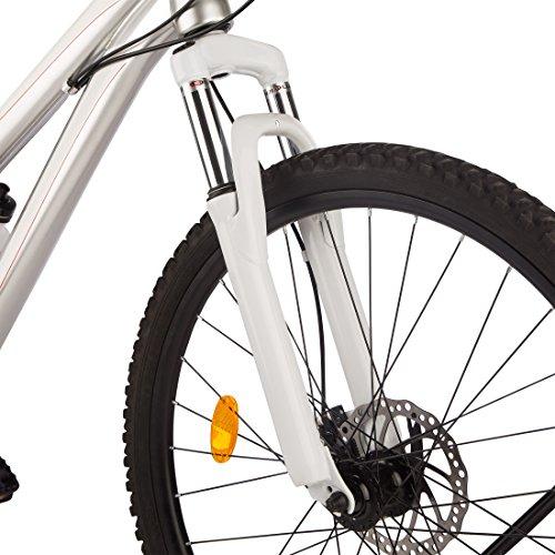 Ultrasport Hardtail Mountainbike 26 Zoll, 21-Gang Shimano-Kettenschaltung, Federgabel, mechanische Scheibenbremsen, A-Head Vorbau, inkl. Trinkflasche - 3