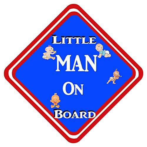 Señal de aluminio con texto en inglés 'Little Man On Board'
