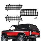 INJORA RC Fenster Netz RC Fenster Mesh Metall Fenstergitter Fenster Schutznetz mit Logo für 1/10 RC Rock Car TRX4 Bronco 82046-4 -