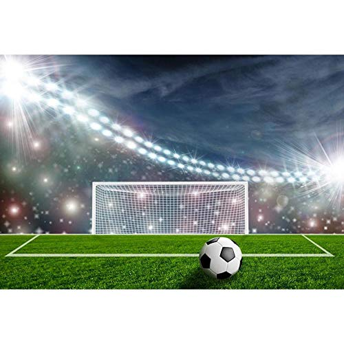 Decoración de Fondo Campo de fútbol fútbol Partido Campeonato niños Fondo Decoración de fotografía Telón de Fondo de Photo Booth para niños Fondo Bokeh Telón de Fondo de Viaje Banners Grande