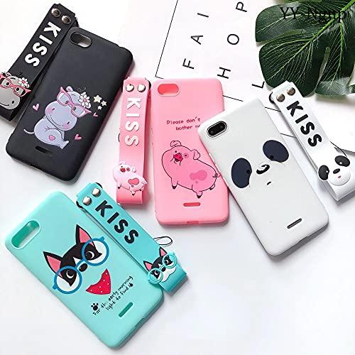 Aplicar a Fundas para Xiaomi Redmi IR Funda Redm 6A Kawaii Silicona Lanyard para Xiaomi Case Redm 6A 5A 4X Xiomi A1 A2 Mi Teléfono Caso