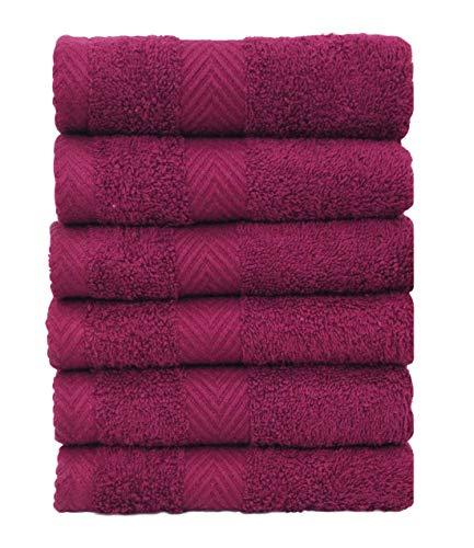 Chely Intermarket, Toallas de Baño, Manos y Toalla de Piscina // Violeta-Vino / 50x100 cm (x6unds) / 550 grs-100% algodón. Secado rápido y Ligera. Fabricado en España.(32011-50x100-1,30)