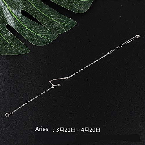 Armband met 12 sterrenbeelden, voor bruid en bruidsringen, sieraden 0 Ram