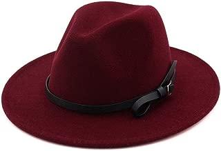 XinLin Du Women Men Fedora Hat Wool Hat Pop Hat Wide Brim Hat Church Fascinator Jazz Hat