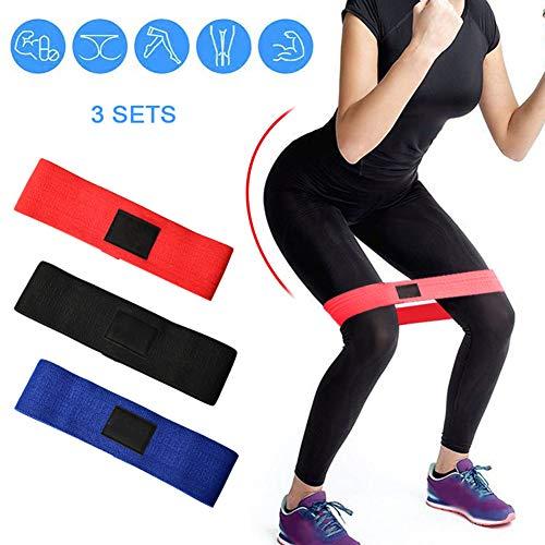 Bidetu Bandas Elasticas Musculacion Con 3 Niveles De Resistencia, Cintas Elasticas Para Mujeres y Hombres, Pilates, Yoga, Rehabilitación, Estiramiento, Entrenamiento, Crossfit