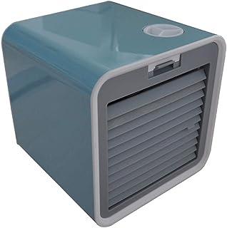 WEXCV Mini Enfriador de Aire de Escritorio USB refrigerado por Agua, Ventilador eléctrico para el hogar, Aire Acondicionado portátil de Verano, Azul Claro, 16.0x16.0x16.0cm