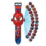 Reloj Spiderman proyector de 24 figuras Super héroes, Spiderman - Reloj electrónico para niños - Proyección Spiderman - Juguetes