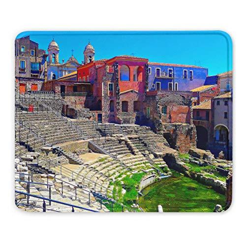 Italia Teatro Romano Catania Alfombrilla de ratón Regalo de Recuerdo 7,9 x 9,5 pulg. Almohadilla de Goma de 3 mm