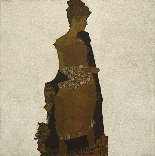 Egon Schiele Portrait of Gerti Schiele - Film Filmplakat - Beste Print Kunstdruck Qualität Wanddekoration Geschenk - A4 Poster (11.7/8.3 inch) - (30/21 cm) - GLÄNZEND dickes Fotopapier
