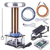 Tesla Coil Kit, Tesla Coil Desktop Toy Plasma Inductive Arc Speaker High Tech Science Physical Experiment Regalo para adultos y niños