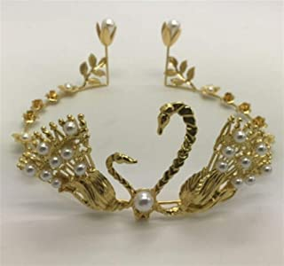 XLEIYI Crown cake decoration ornaments birthday party baking decorations adult queen crown tiara children's crown gold mini crown (Style : 3#)