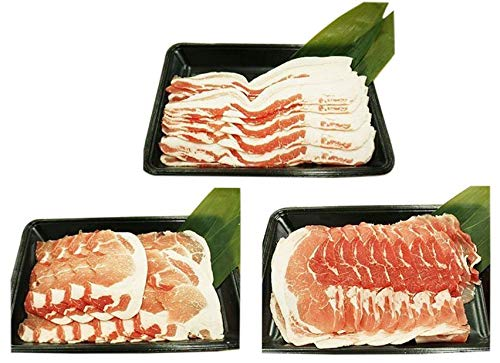 やんばる島豚あぐー ≪黒豚≫ しゃぶしゃぶセット(背ロース・バラ(三枚肉)・モモ各2kg) フレッシュミートがなは 旨み成分たっぷりで甘みのある脂身が特徴の沖縄県産豚肉