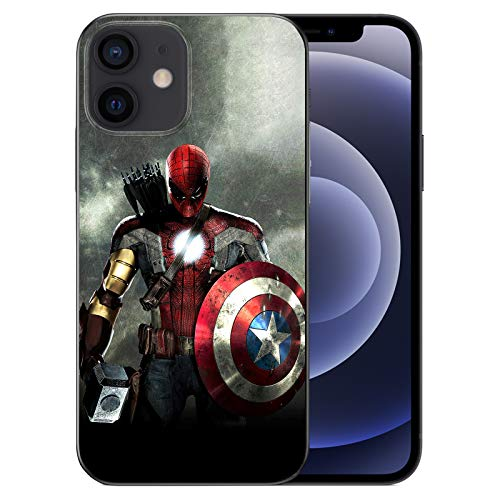 WZFT Slim Fit Case Compatible with iPhone 12 Mini 5.4 inch (2020), Comics TPU Full Body Protection Shockproof Cover (Avengers-Mix)