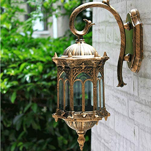 NXYJD European Retro Waterproof Wall Sconce Traditional Antique Decorative Wall Light Aisle Balcony Garden Fashion Wall Lights Corridor Attic Home Decoration Wall Lamp